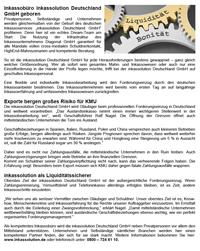 Inkassobüro inkassolution Deutschland GmbH geboren